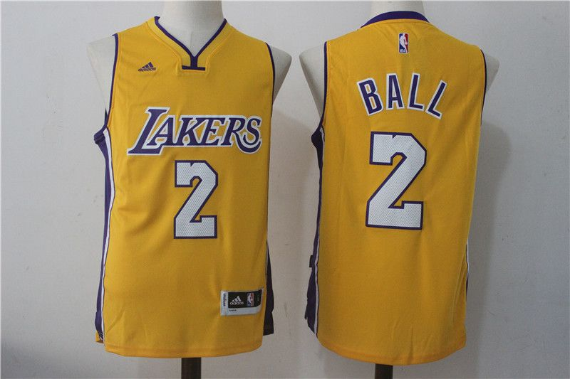 2017-2018 NBA Los Angeles Lakers  2 Lonzo Ball jerseys from http   86d9c939f