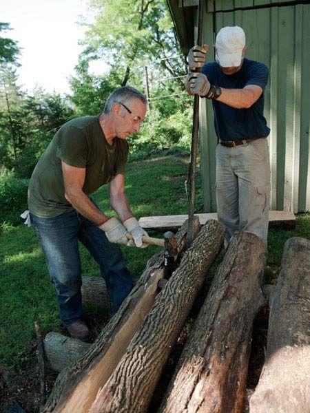 Making Half Log Benches