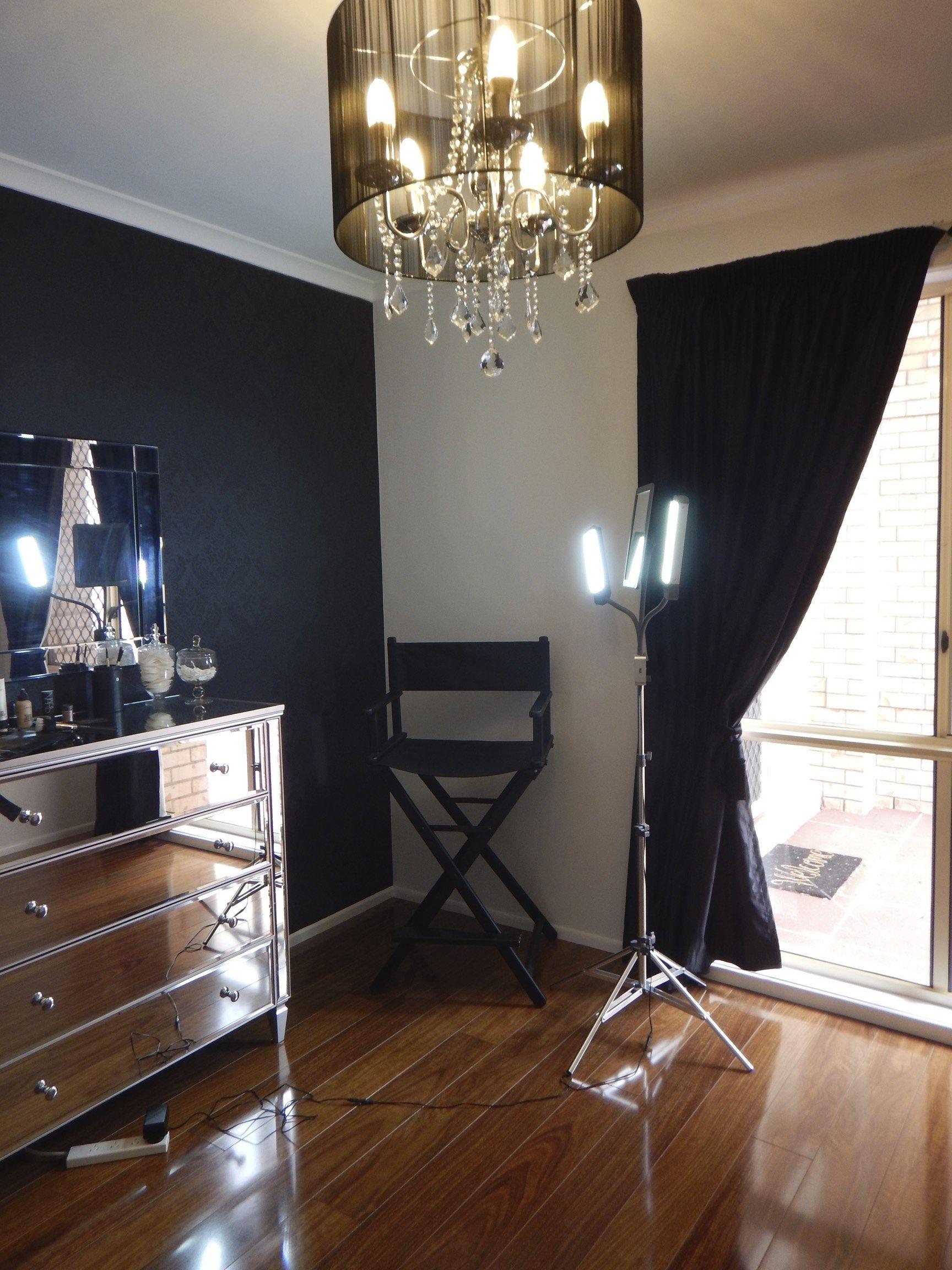 Home Makeup Studio Lights Station Storage Ideas
