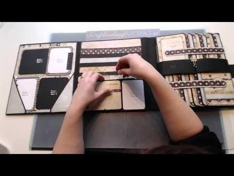 Scrapbooking Tutorial - Foto Folio style 1 -RELEASE- - YouTube