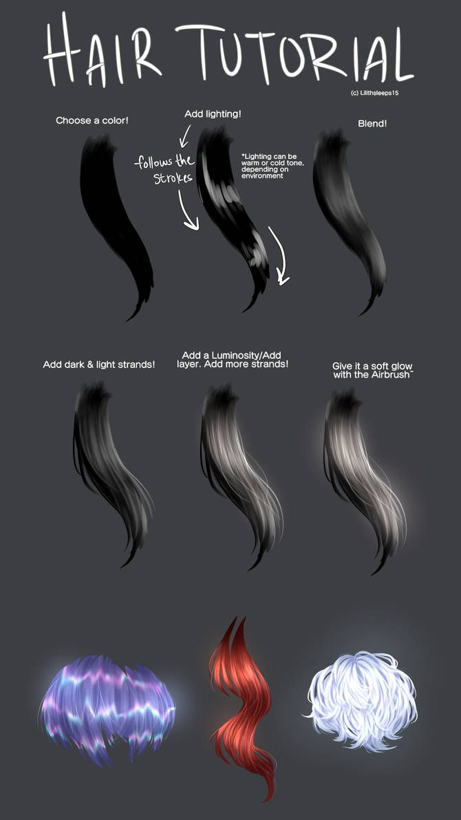 A Hair Tutorial That No One Asked For Medibang By Https Www Deviantart Com Lilithsleeps15 On Digital Art Tutorial Digital Painting Tutorials Drawing Tips