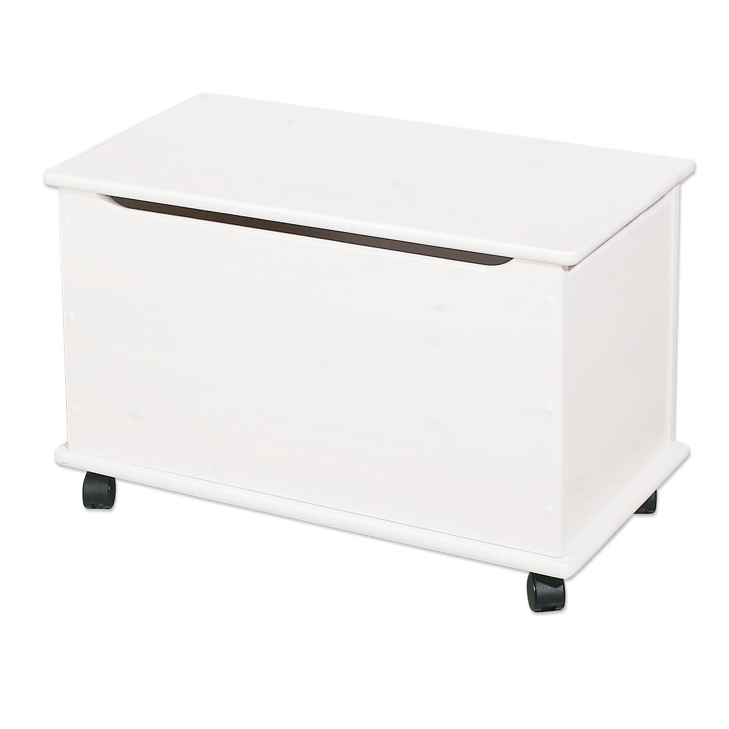 White Playchest On Wheels By Hoppekids Toy Storage Bench