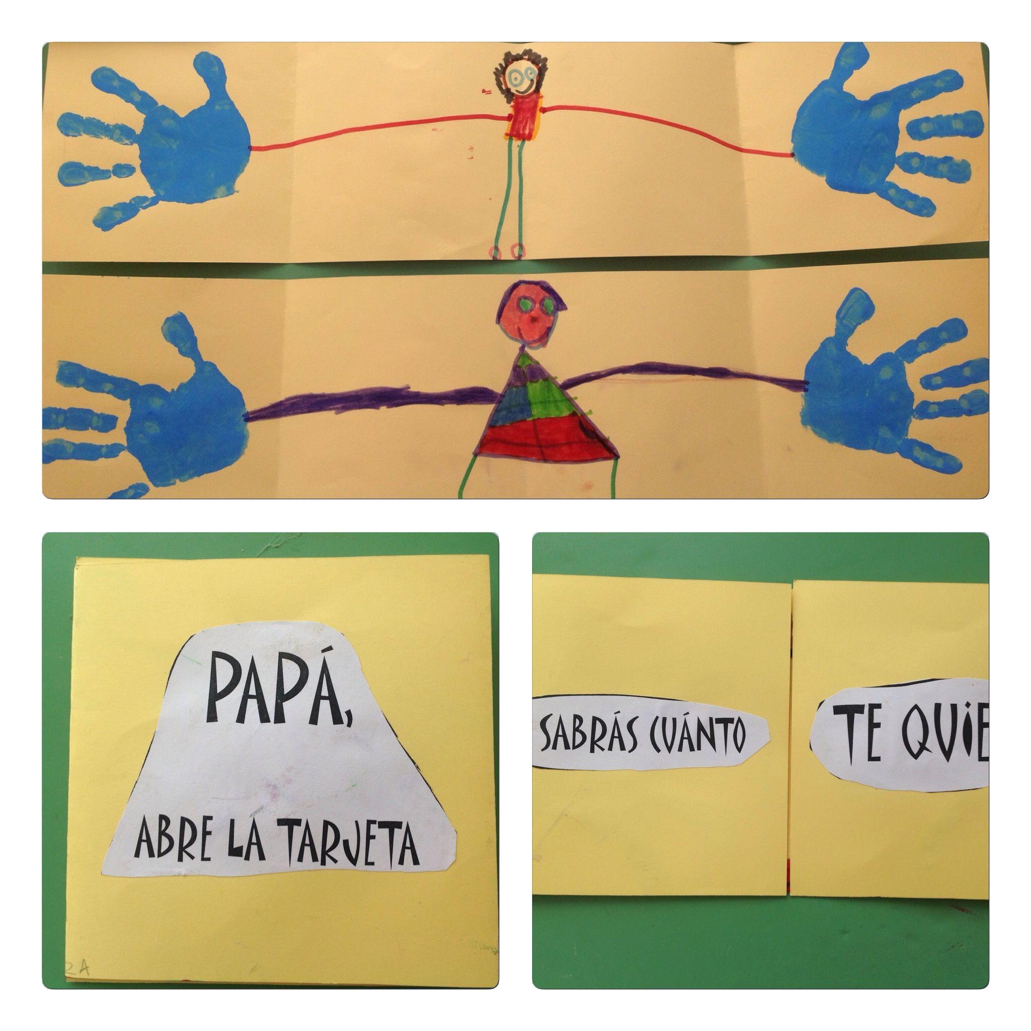 Tarjeta Para El D A Del Padre Alumnos 4 A Os Colegio Nuestra Sra  ~ Cursos De Manualidades En Madrid