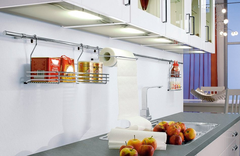 Arbeitsplatte mit praktischer Reling Weiße Küchen Pinterest - arbeitsplatte küche nussbaum