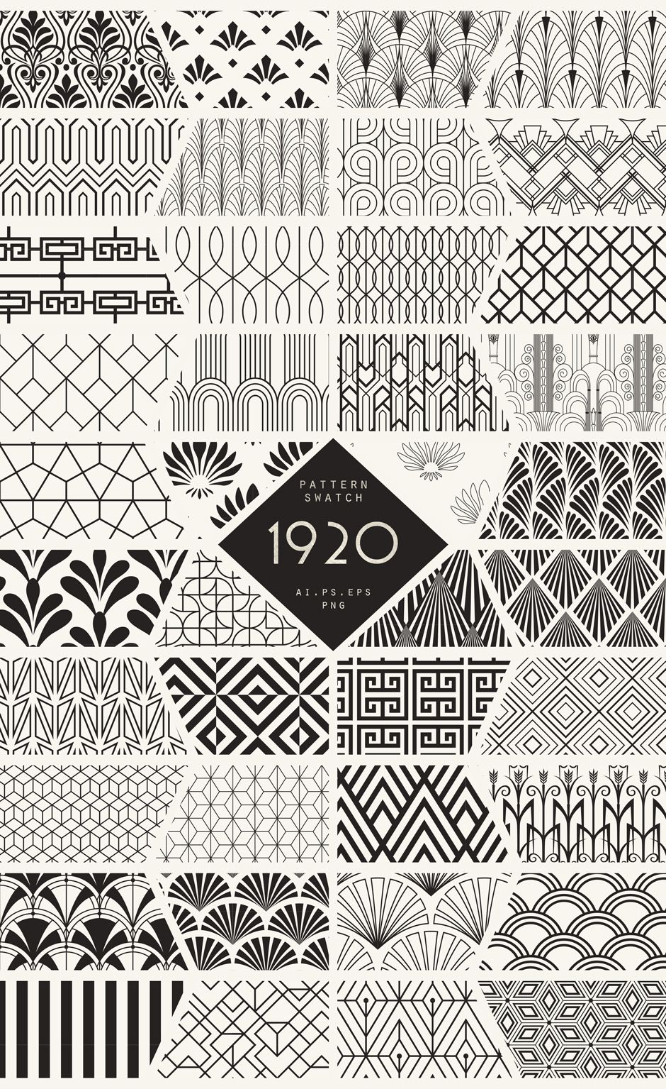 The Ultimate 1920 S Art Deco Patterns Bundle To Create Glamour And