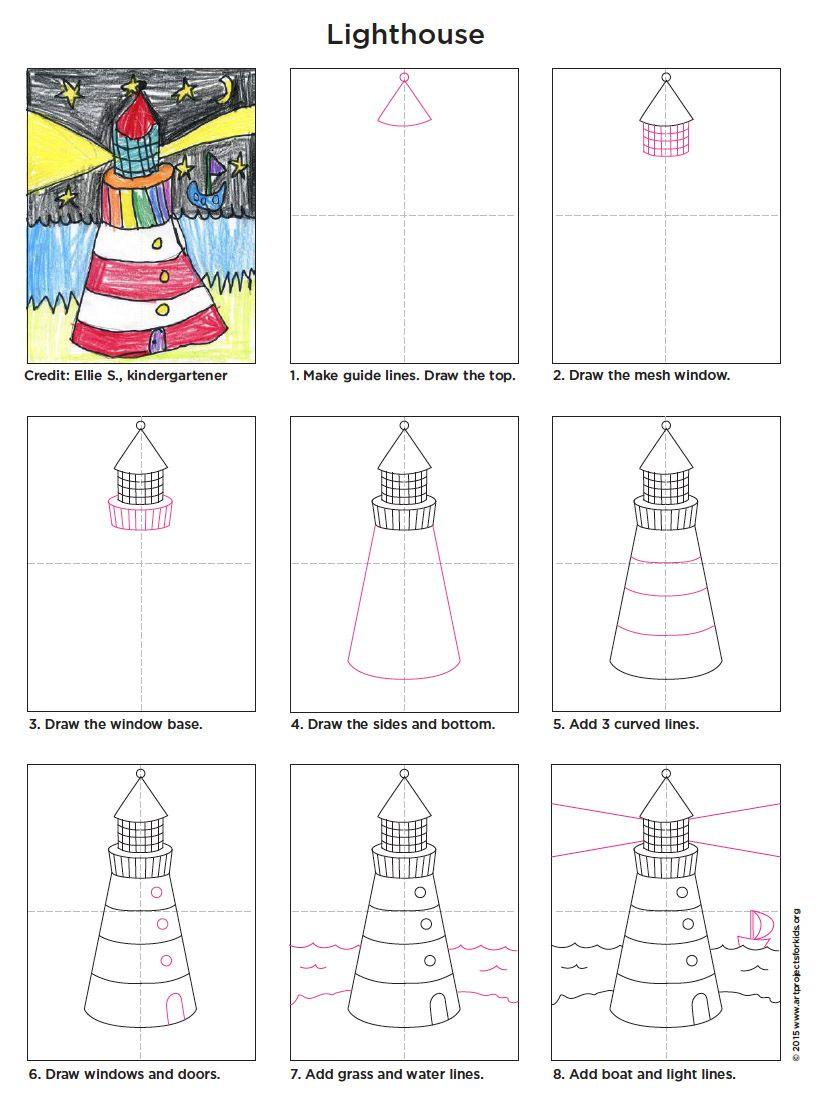 Lighthouse Lighthouse Art Art Projects Elementary Art