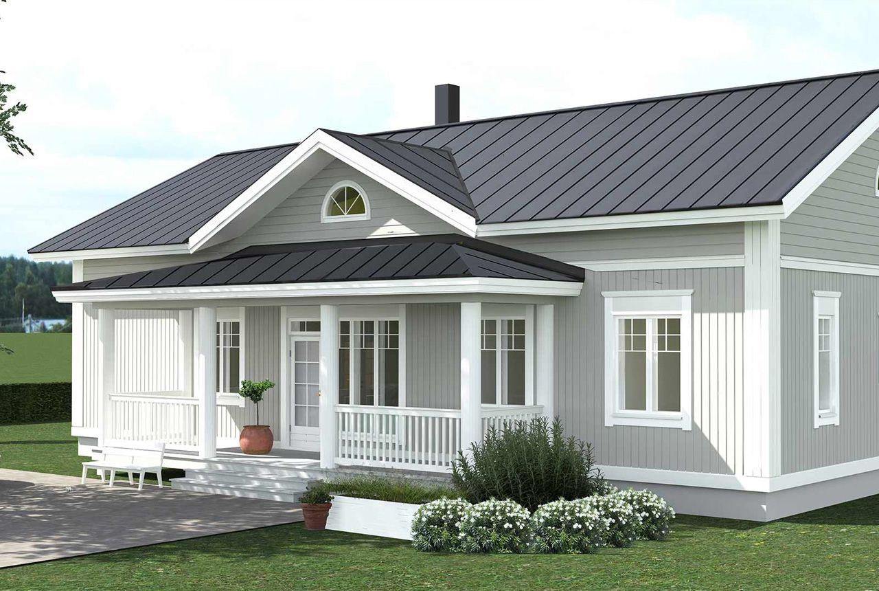 Yksilolliset Talopaketit Seka Valmistalot Facade House House Colors House Design