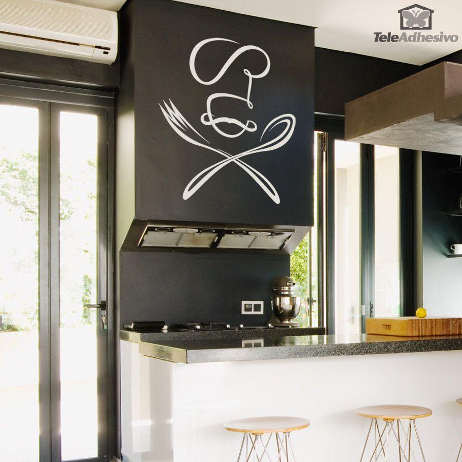 Cuisine wall stickers Couverts Fourchette Cuillère Vinyle Mur