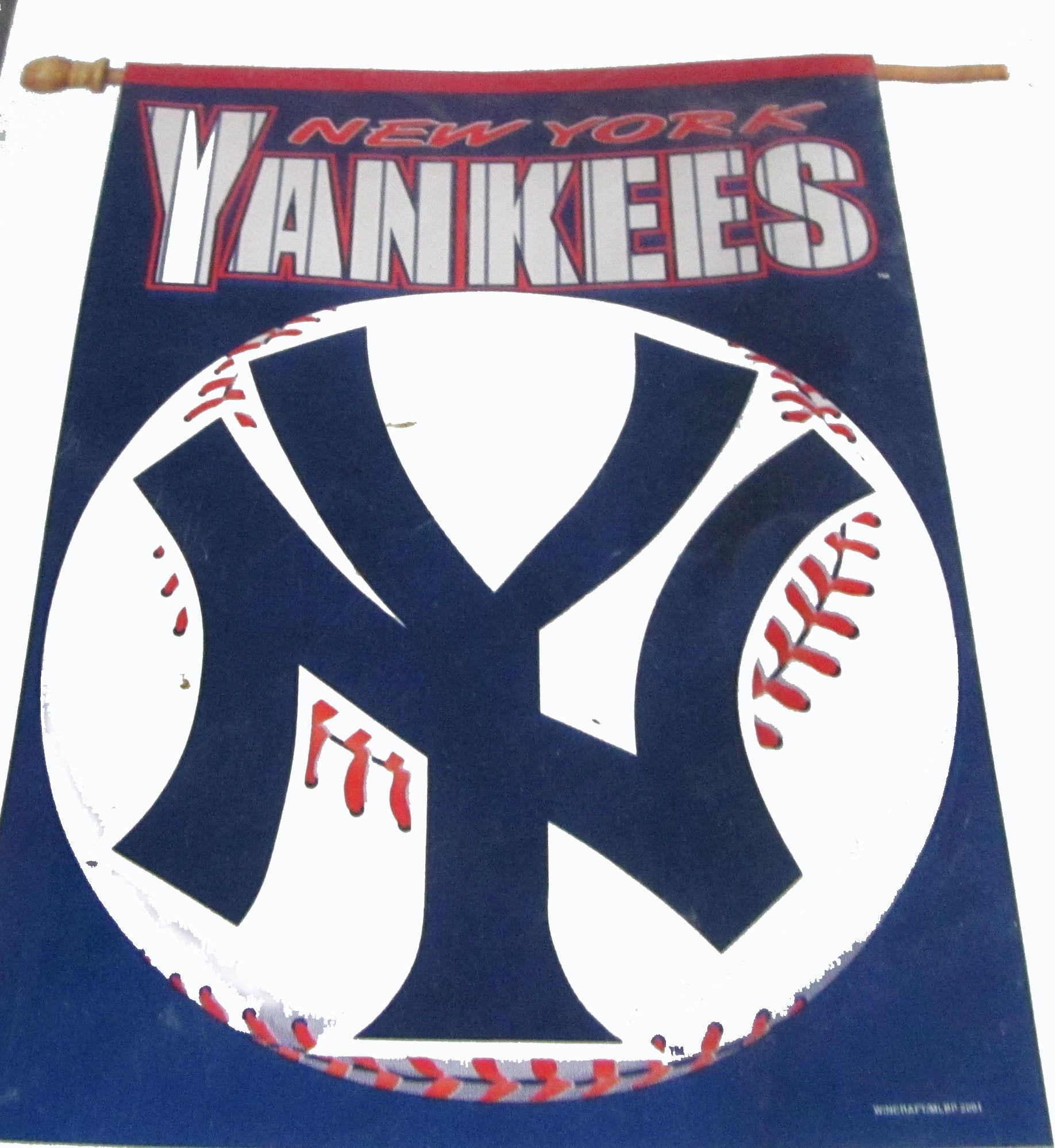 New York Yankees Vertical Flag New York Yankees Yankees Mlb Merchandise