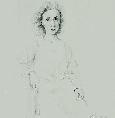 Elaine de KooningCounterlight's Peculiars: Willem de Kooning: pencil drawing