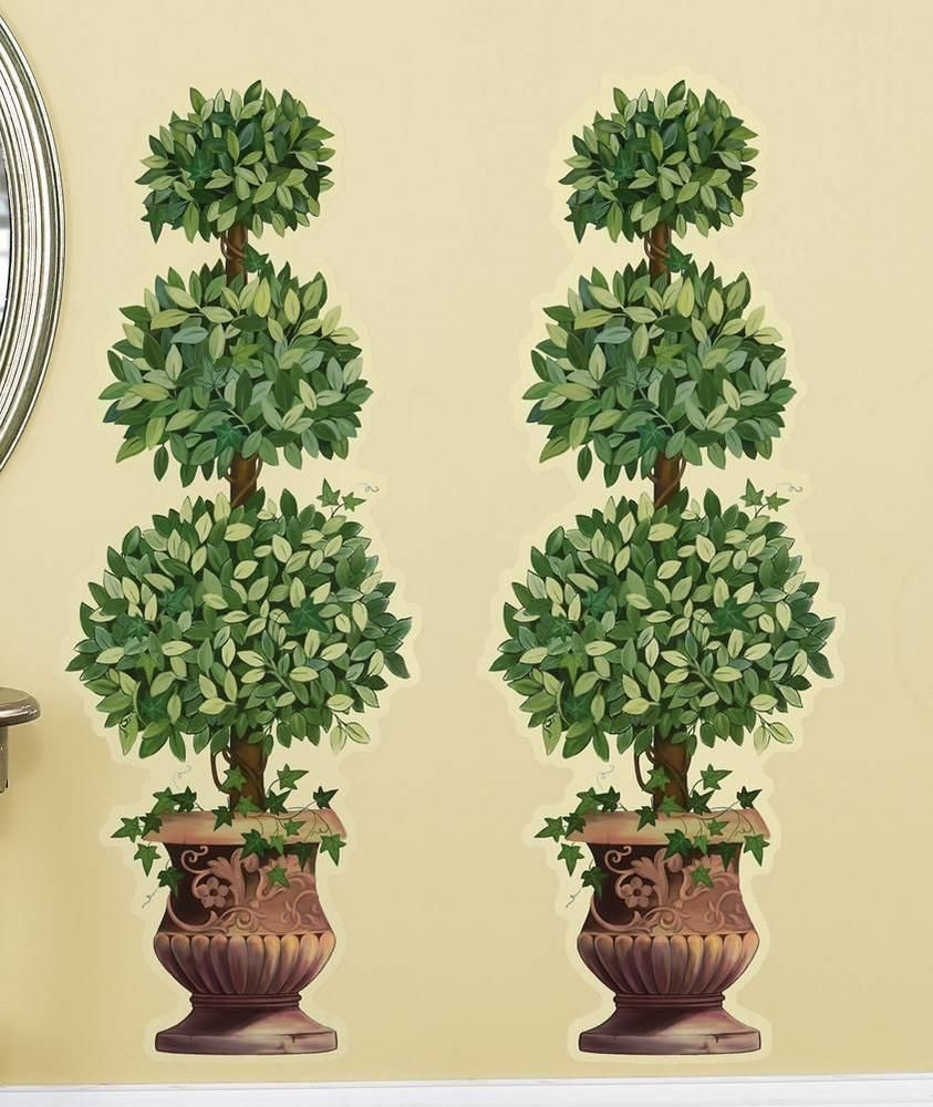 2 Pc Set Topiary Wall Decal Stickers New | Christmas Decor ...