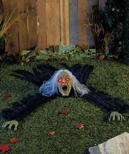halloween interactive creepy witch scary spooky ground undead yard haunted decor ebay