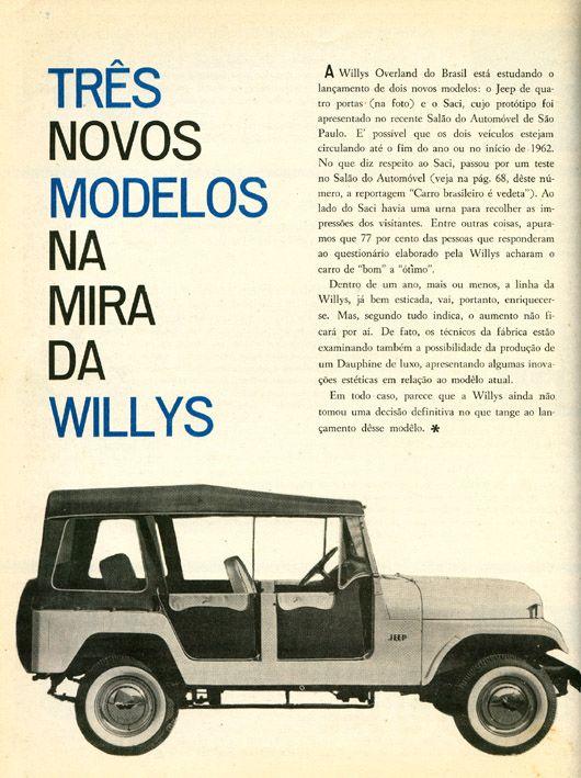 Jeep Willys 1961 Anuncios Antigos Vintage Jeep E Carros E Caminhoes