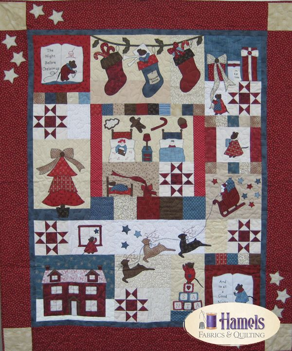 Twas The Night Before Christmas Quilt Kit Block Of The