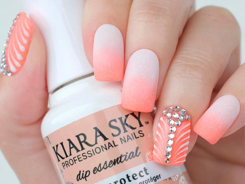 27 Lovely Peach Color Nails Designs You Must To Try - 27 Lovely Peach Color Nails Designs You Must To Try Nail Art
