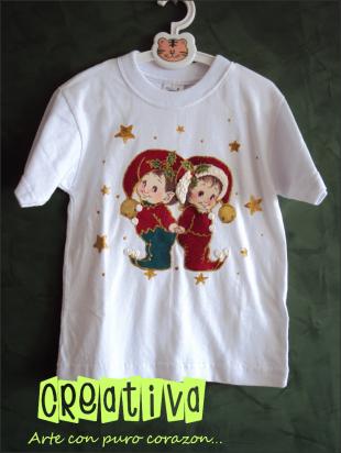 Camisetas Navideñas Decoradas A Mano Camisetas Camisetas Niño Franelas