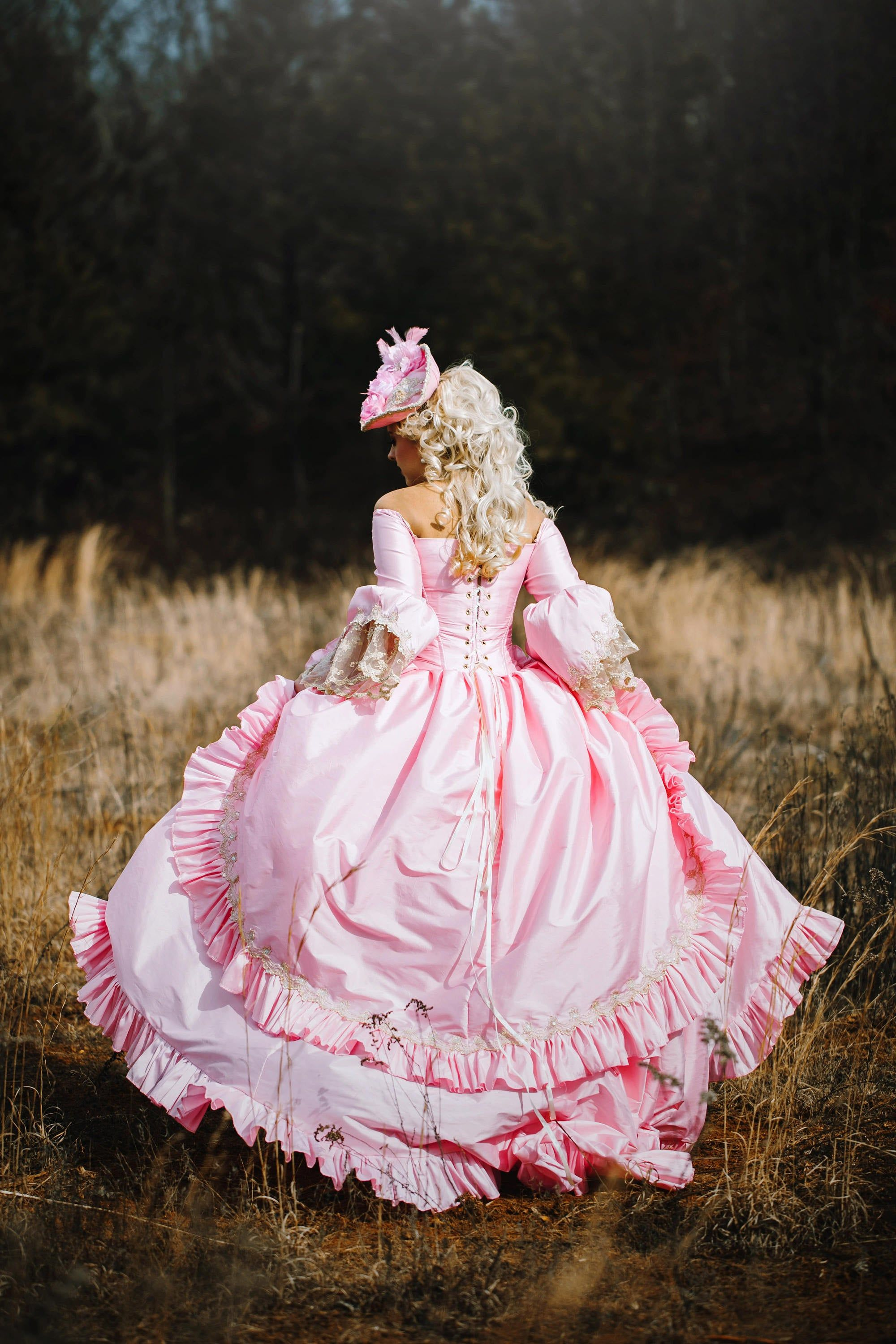 Custom Pink Champagne Marie Antoinette Upscale Victorian Image 1 Victorian Gown Fantasy Gown Historical Dresses [ 3000 x 2000 Pixel ]