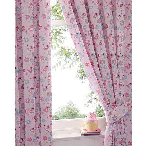 Bluezoo Girlu0027s Pink U0027Little Owl And Friendsu0027 Curtains  | Debenhams