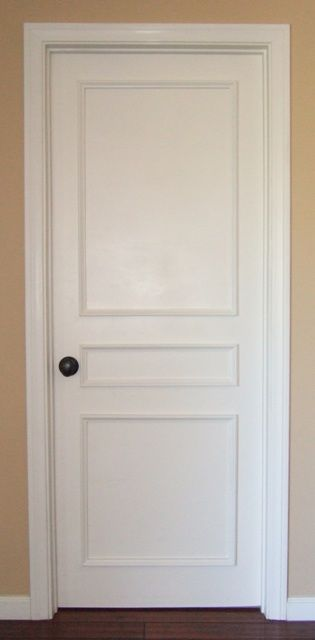 Upgrade Plain Doors In A Flash With This Three Panel Door Moulding Kit Great For Interior And Exterior Doors Door Molding Kit Door Molding Wood Doors Interior