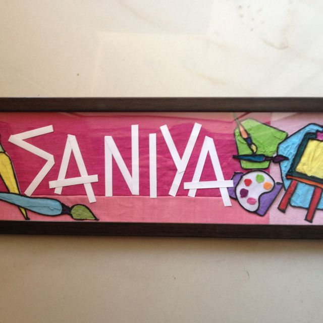 Saniya Wants To Become An Artist When She Grows Up Name Plate Novelty Sign Artist
