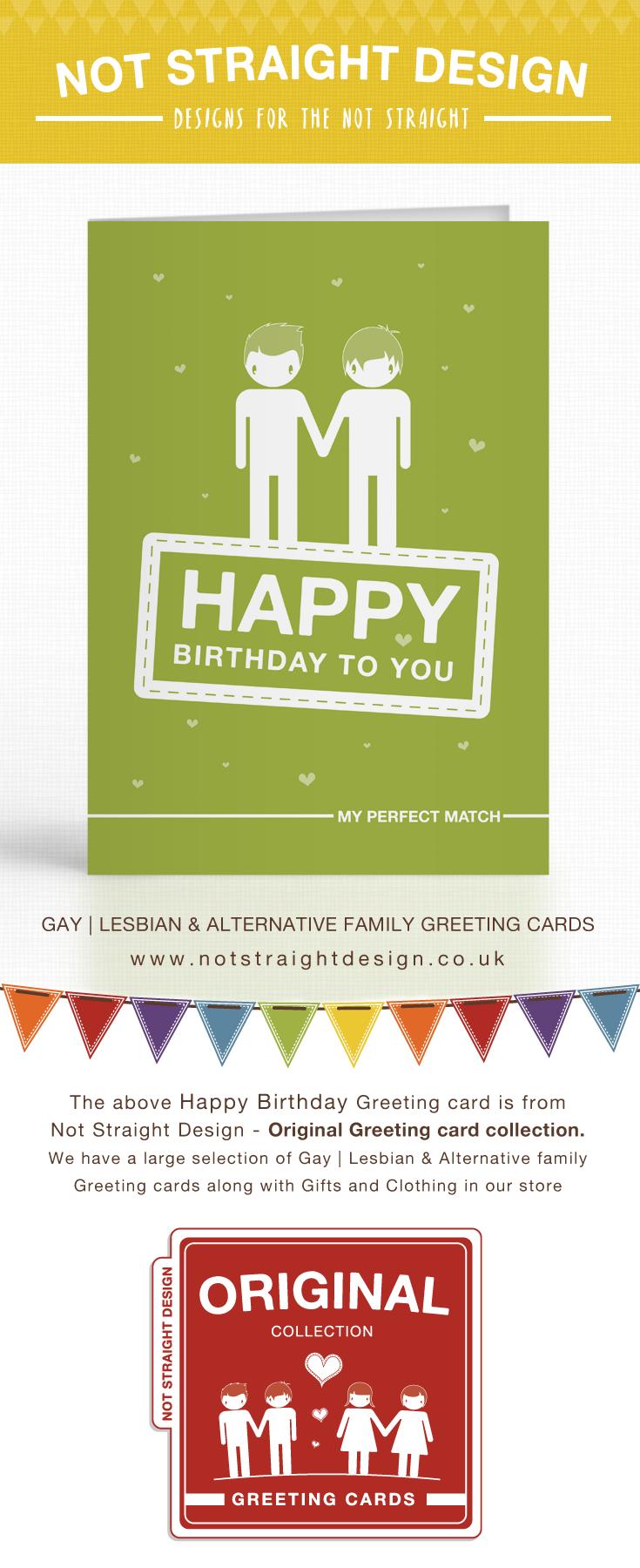Green Perfect Match Happy Birthday Card Pinterest Happy