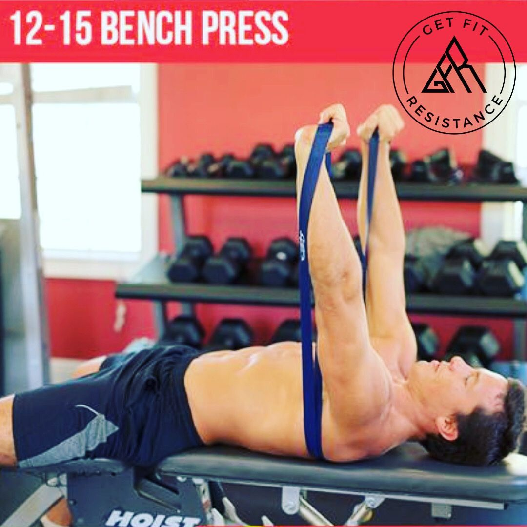Resistance Band Bench Press Bodybuilding Training Powerlifting Training Bench Press