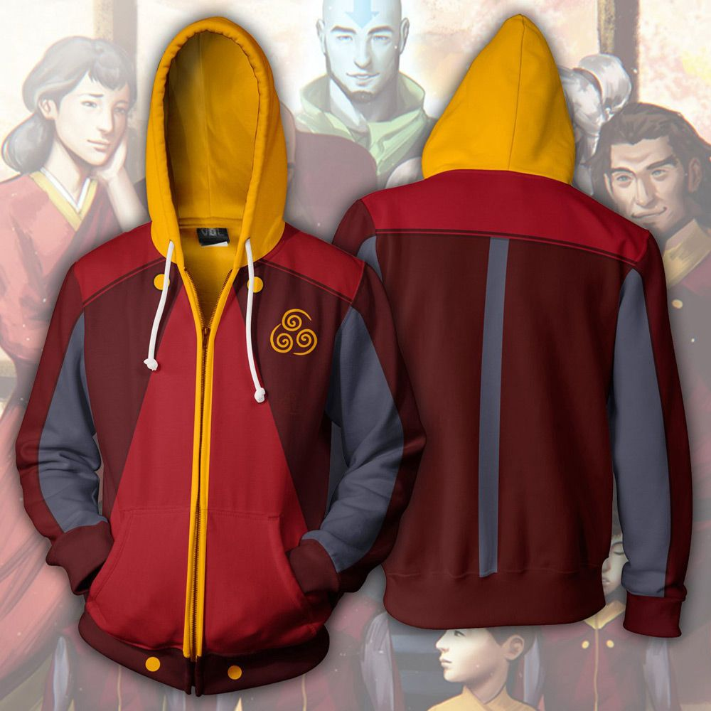 Avatar the last airbender air nation zipper hoodie in