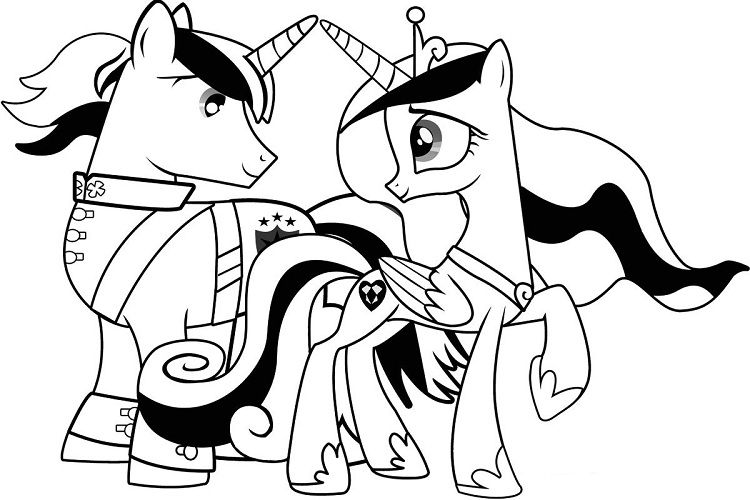 My Little Pony Coloring Pages Princess Cadence And Shining Armor