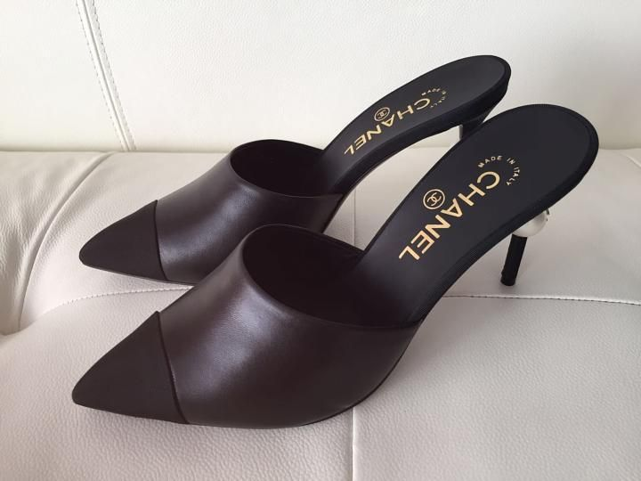 463df901b8 Chanel Runway Leather Heels Pearl Pumps 37 Black Mules. Get the must-have  mules of this season! These Chanel Runway Leather Heels Pearl Pumps 37  Black Mules ...