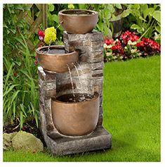 Fuente decorativa de tres piletas Principales Ideas jardin y Casa