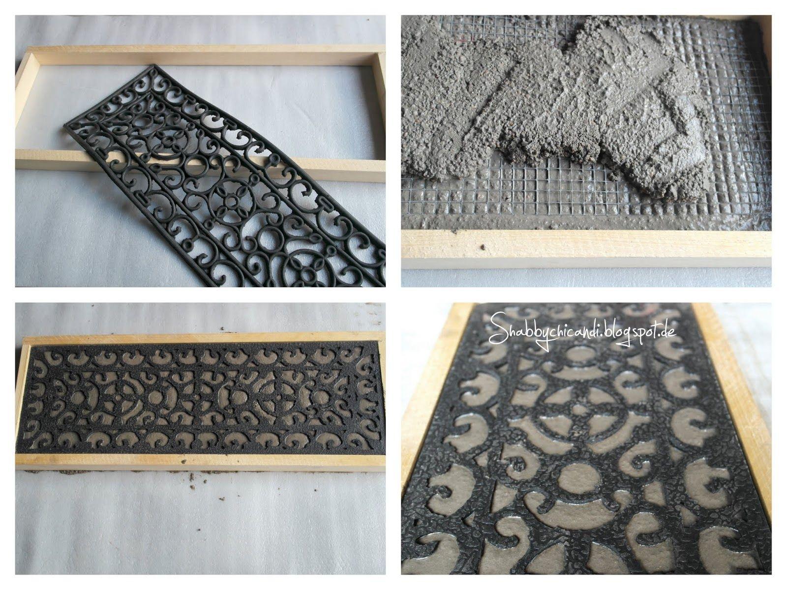 schrit für schritt anleitung beton platten mit ornament | diy