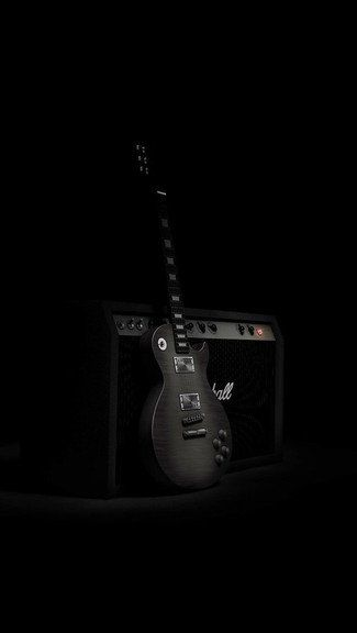 Guitar And Amplifier Iphone 5c 5s Wallpaper Guitar Wallpaper Iphone Music Wallpaper Black Wallpaper