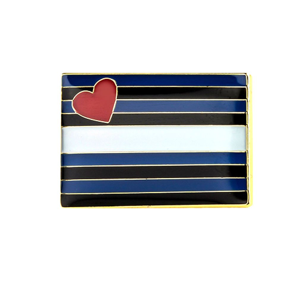 Lederfetisch-Flagge als Rechteck mit Butterfly Clip 2,1cm*1,45cm CSD//Pride