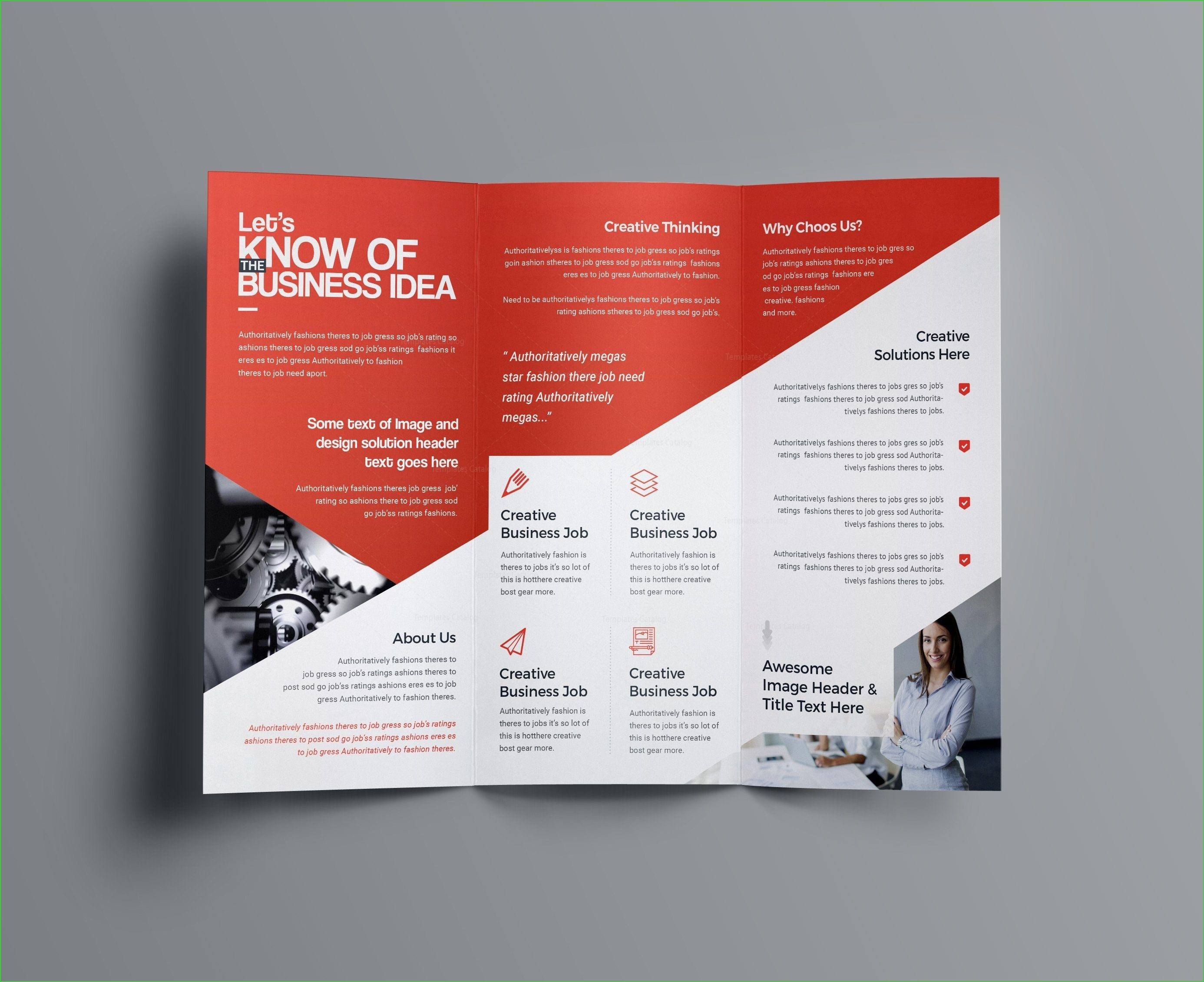 Aphrodite Business Tri Fold Brochure