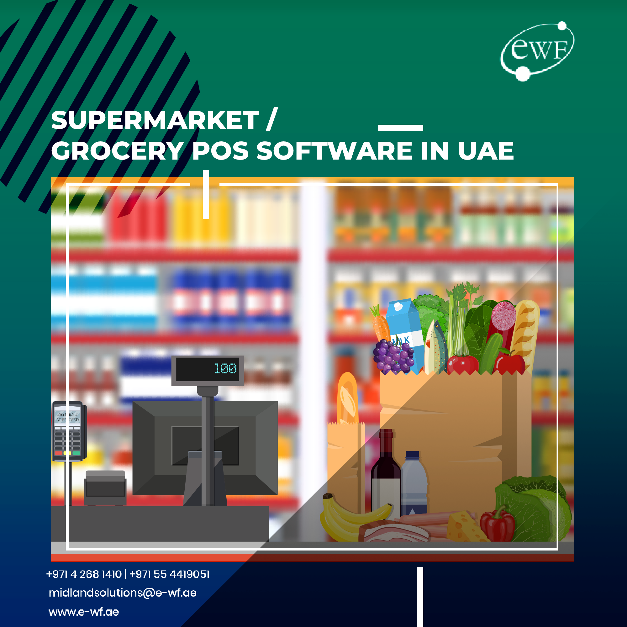 Supermarket store software and POS systems to help food