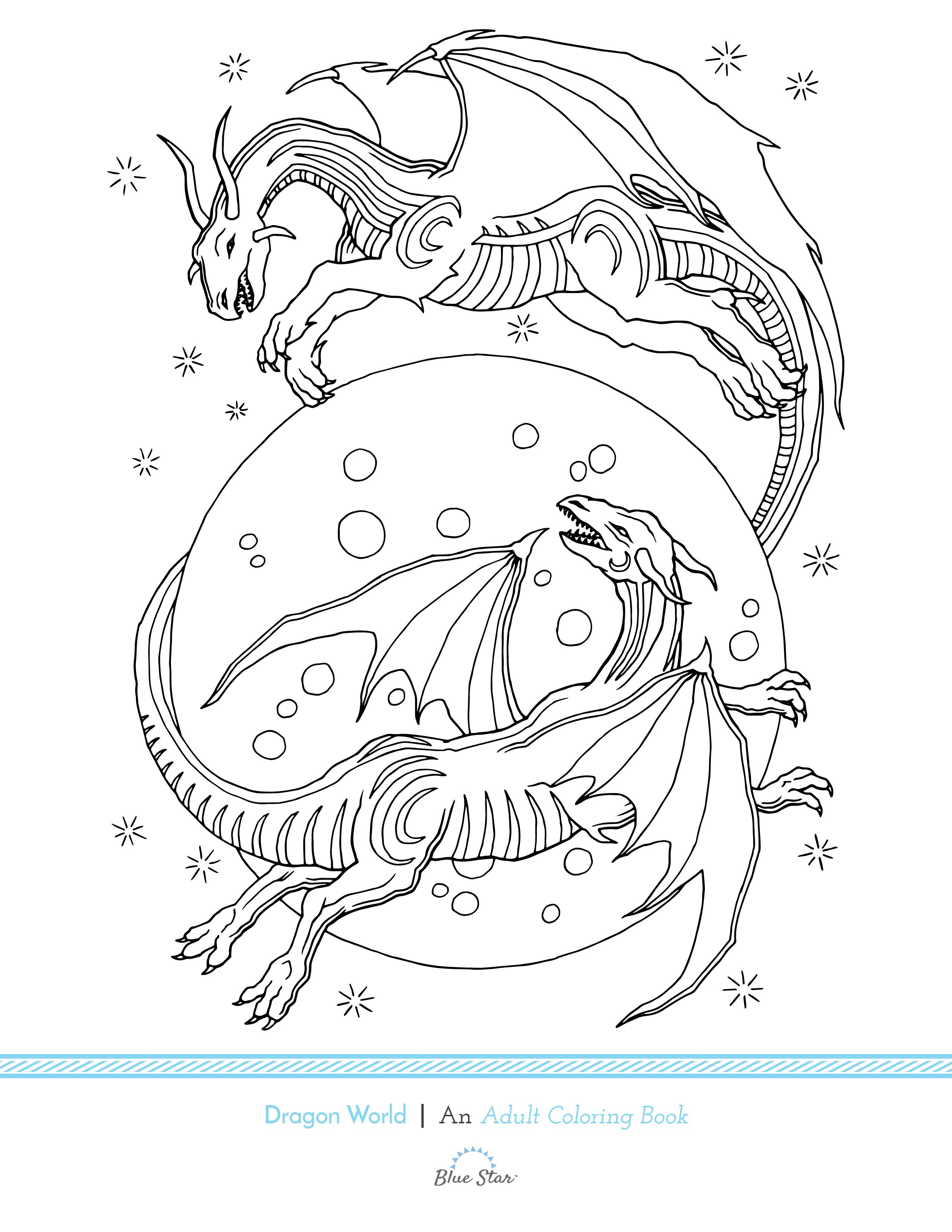 Let Your Imagination Run Wild With This Free Adult Coloring Book Page From Mark Coyles Upcoming Dragon World To Be Released December