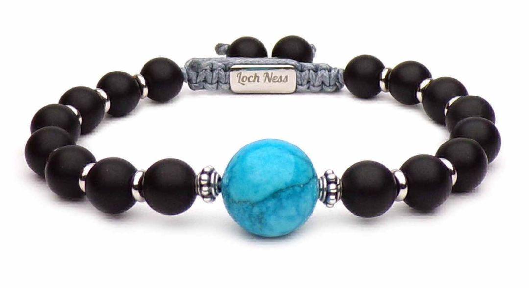 8 mm Pierre naturelle Perles Bleues Yoga Reiki Hommes Bracelets Bijoux Cadeau D/'Anniversaire