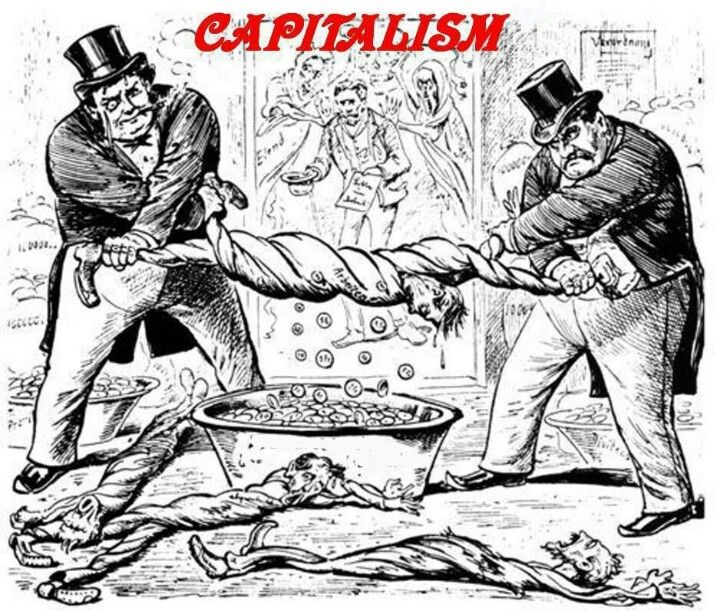 Image result for Capitalism CARTOON