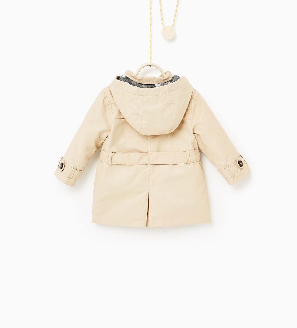 Hooded Zara Kids Me Mini Trench CoatBaby ukiPXOZT