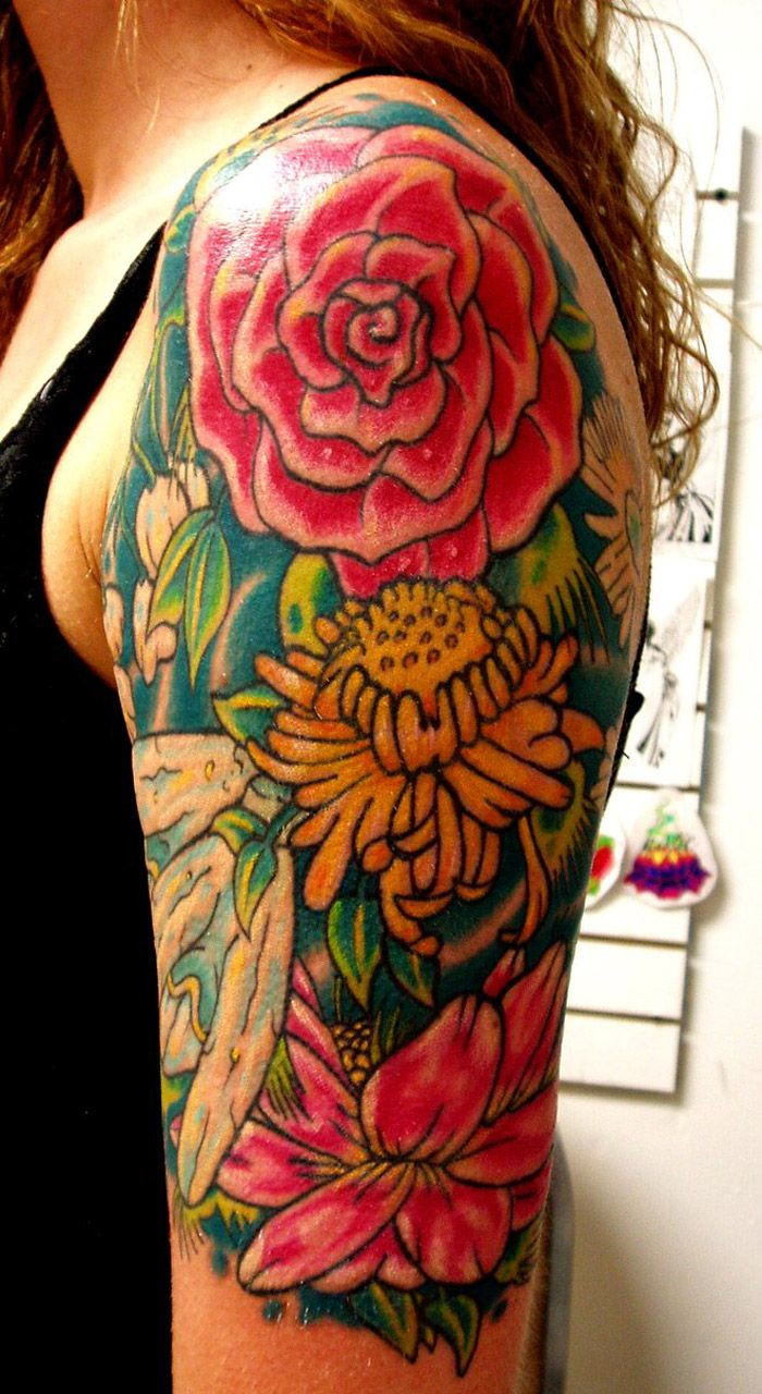 Example of half sleeve tattoo designs for women tattoo designs