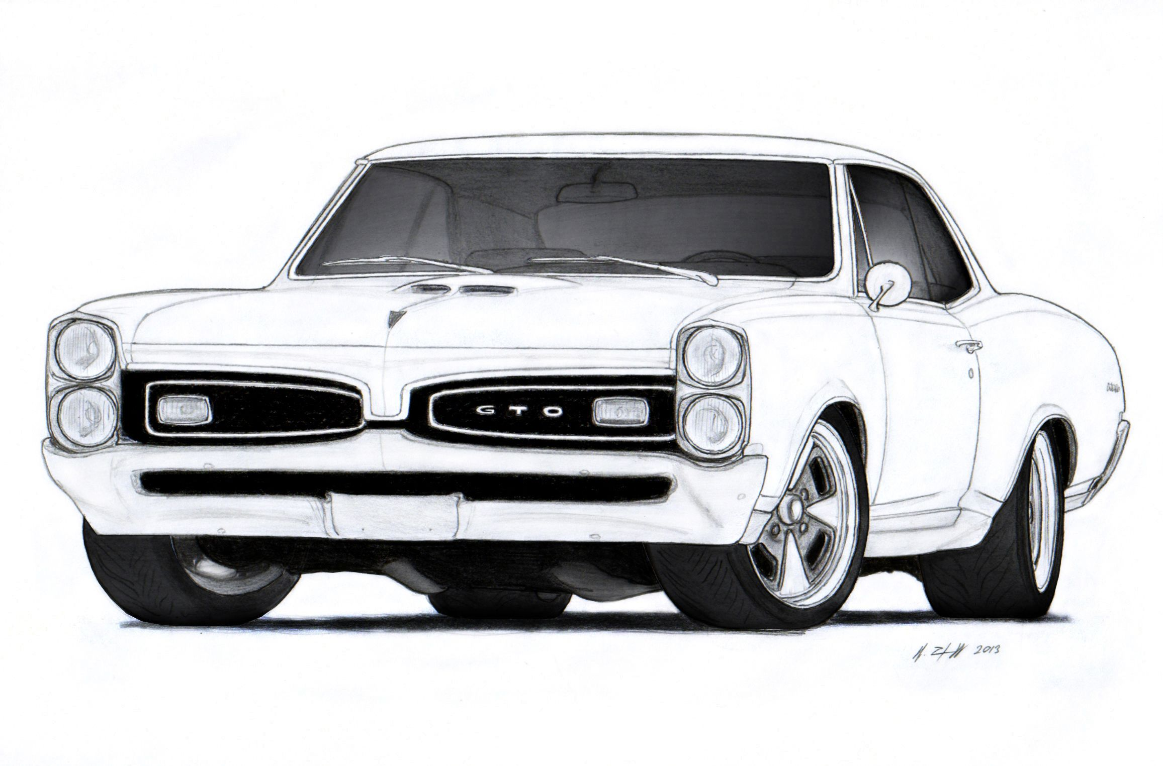 Pontiac Gto Drawing By Vertualissimo Deviantart Com On