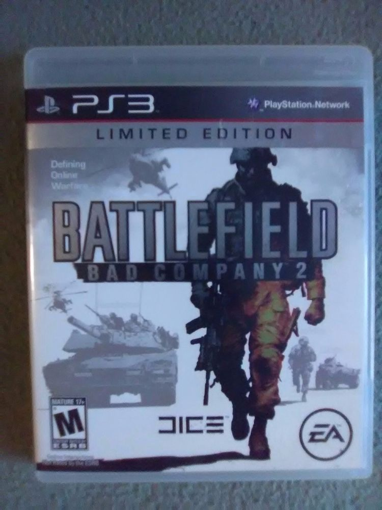 Battlefield Bad Company 2 Limited Edition Playstation 3 Ps3 Game