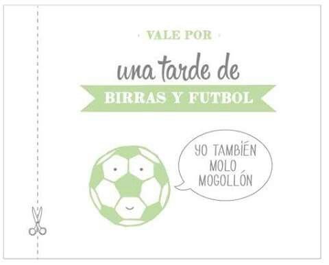 Vale Por Una Tarde De Futbol Place Card Holders Cards Place Cards
