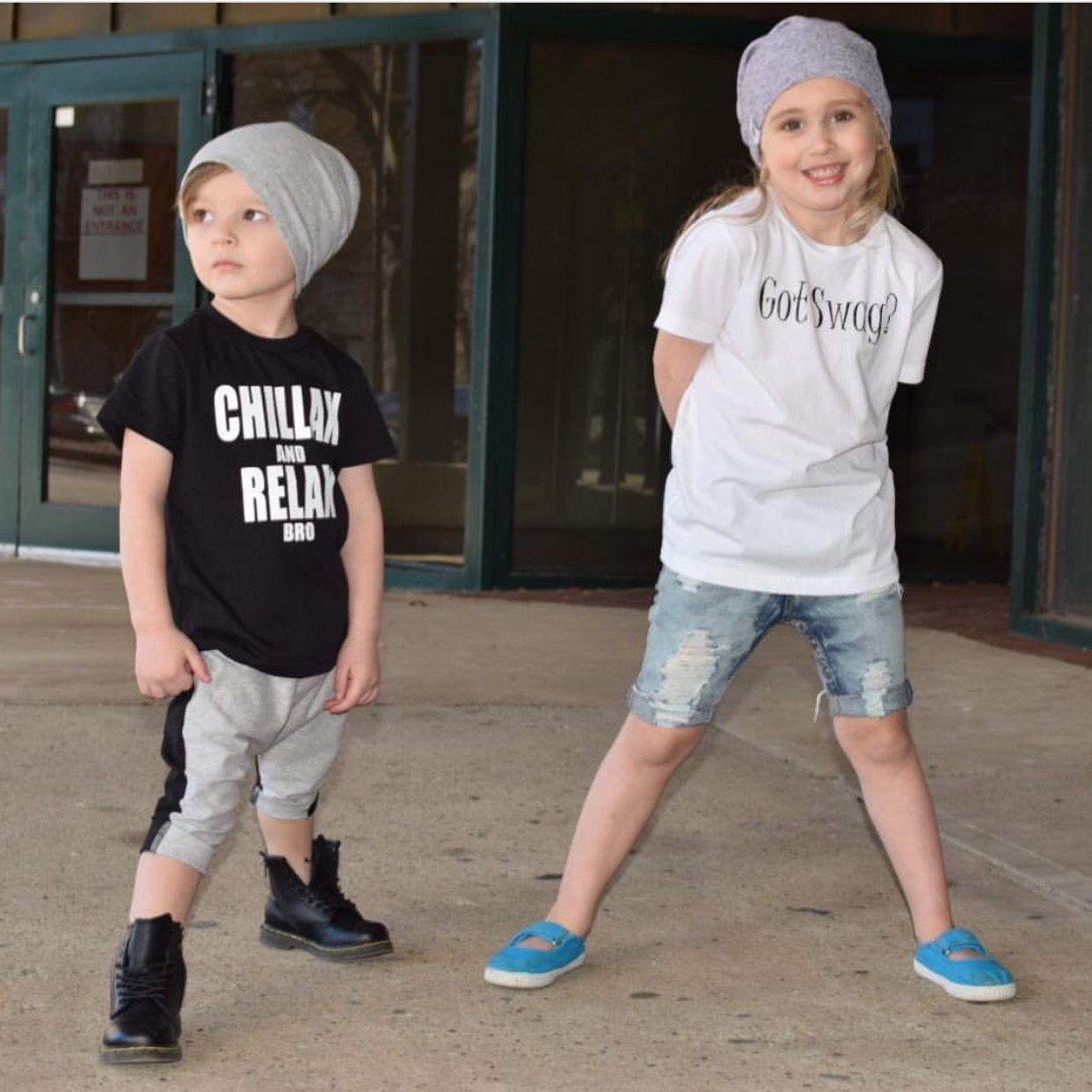These cousins looking crazy cute in our beanies
