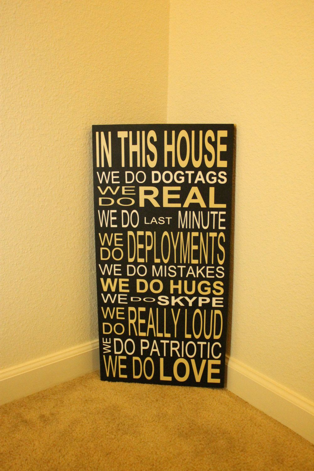 Family+Rules+...+In+This+House+..+Vinyl+Sign+by