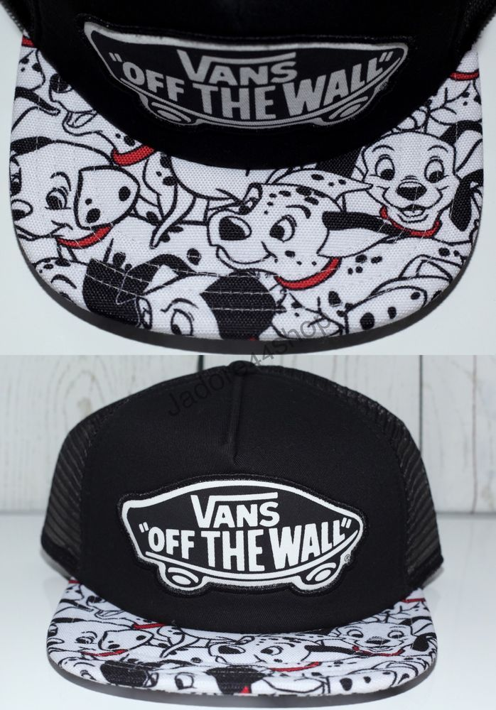DISNEY Vans Off The Wall 101 DALMATIONS Adult Black Trucker Hat Snapback  NWT… Gorras 34ee7952b87