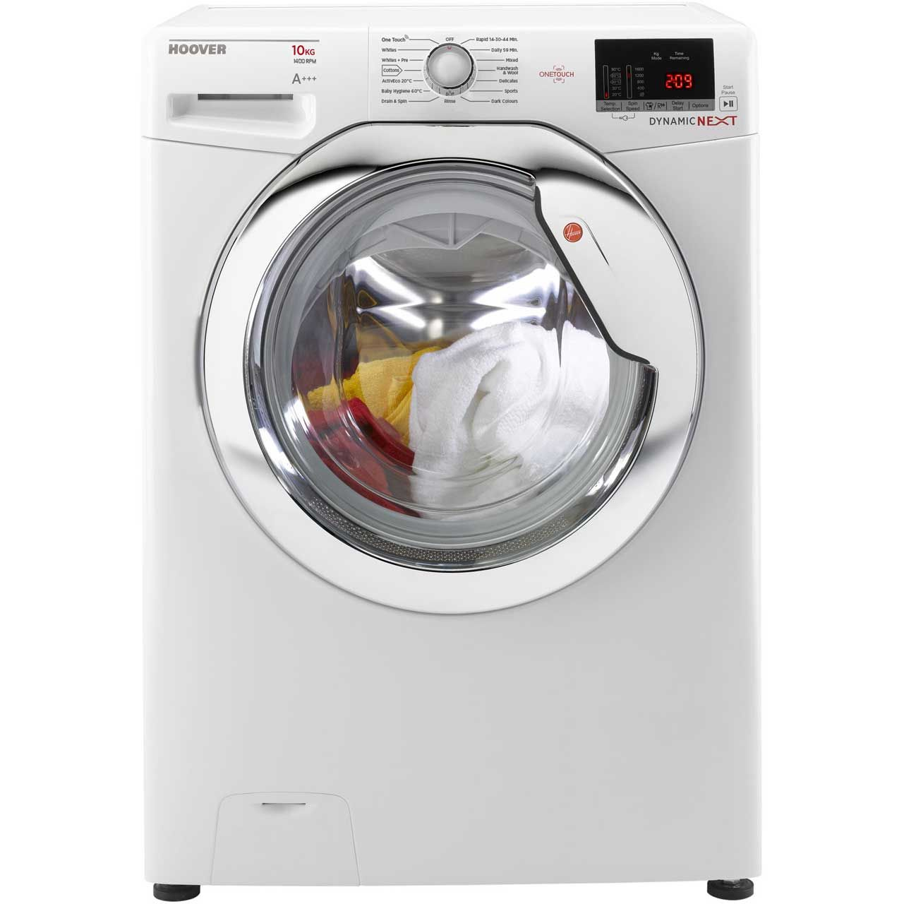Dxoc410c3 Wh Hoover Washing Machine 10kg White Ao Com Ideas For 2017 Washer Dryer Laundry Appliances Washing Machine
