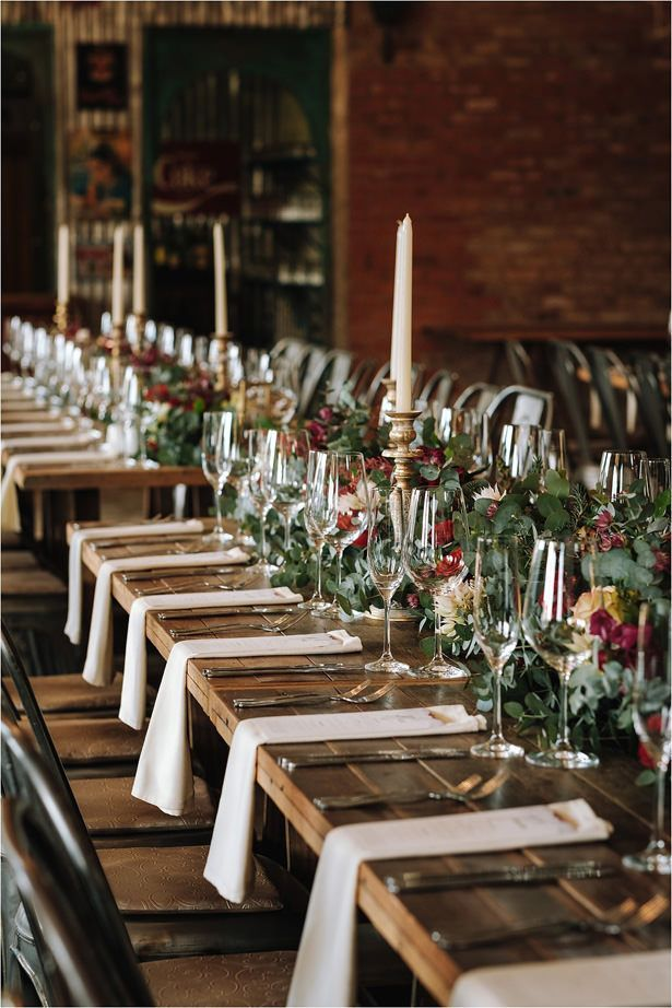 Modern Forest Wedding with Dramatic Florals and Burgundy ...