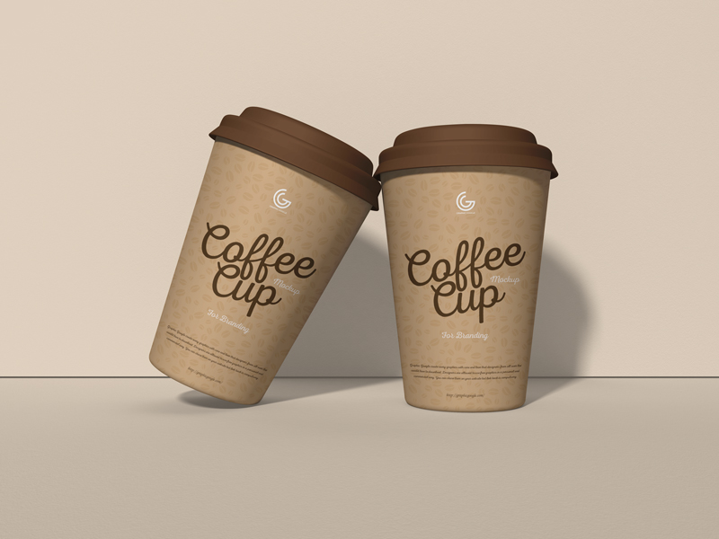 Free PSD Coffee Cup Mockup For Branding Graphic Google