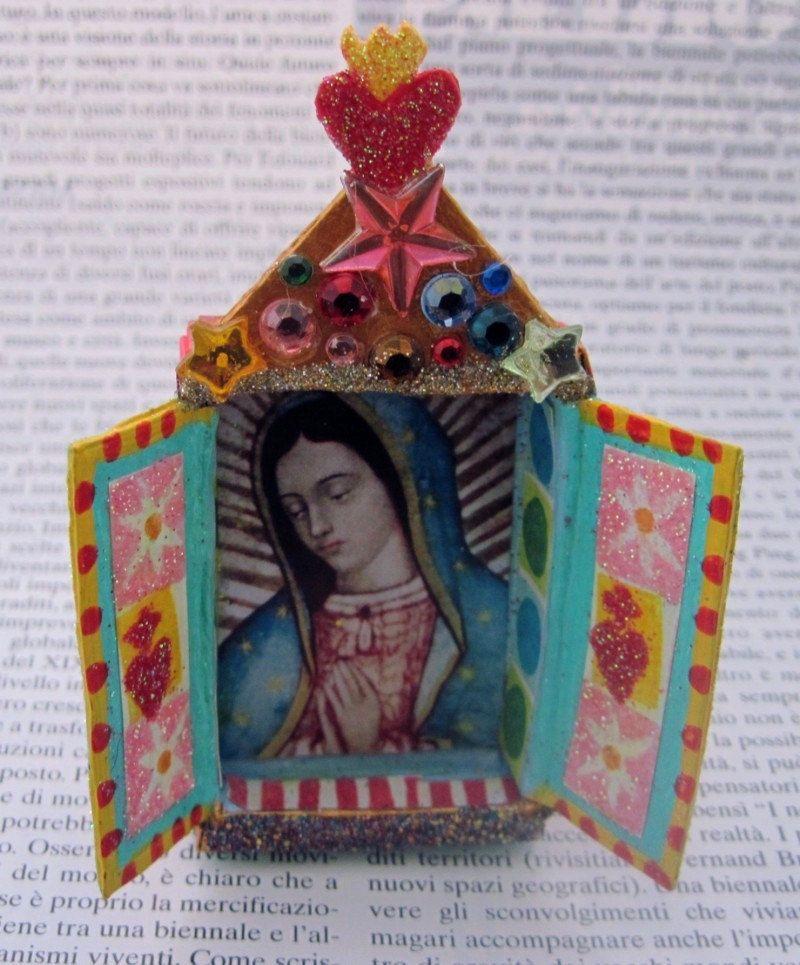 Mixed Media Art Royal Crown Altered Art Altered Matchbox Shadow Box Heart Art Home Decor Decorative Matchbox  Miniature Art Mixed Media